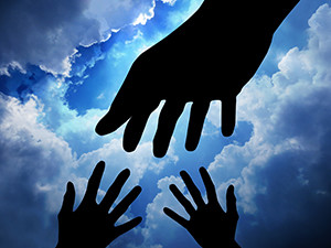 Reaching across the planes of enlightment to reach loved ones who have passed on.