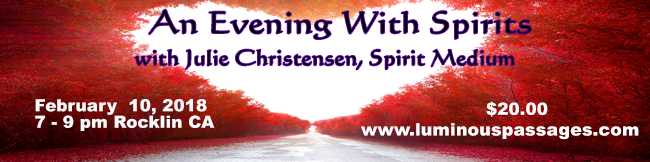 An Evening with Spirits, February 2018